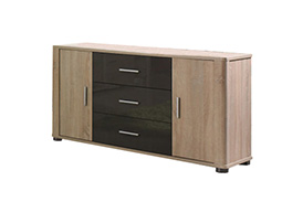 F4 FILL Chest of drawers SONOMA/GRAPHITE