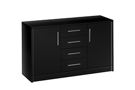 Chest of drawers GENEWA II black