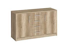 Chest of drawers GENEWA II oak canyon
