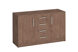 Chest of drawers GENEWA II oak sterling