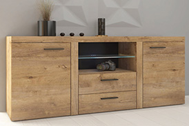 Chest of drawers RUMBA DL20 oak lefkas