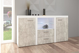 Chest of drawers RUMBA BJ20 light concrete