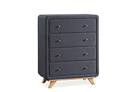 Chest of drawers MELISSA grey up. 02