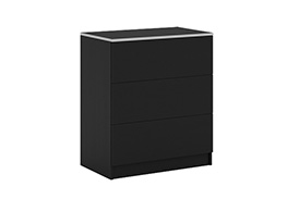 Chest of drawers VISTA S3 black