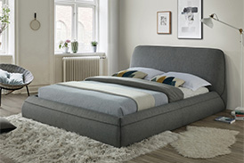 Bed MARANELLO 160 grey