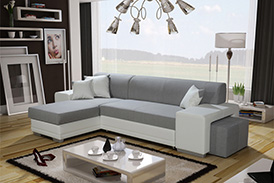Corner Sofa VERA TWIN WITH POUFFE