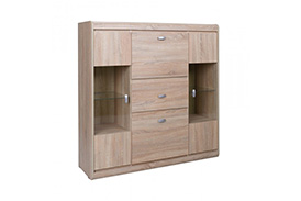 SV4 SILVER CHEST OF DRAWERS