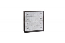 TM11 TOMMY CHEST OF DRAWERS GRAPHITE/ENIGMA