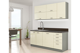 Kitchen set KARMEN I 180 cream gloss