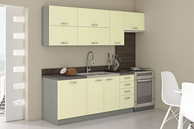 Kitchen set KARMEN III 240 cream gloss