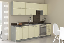 Kitchen set KARMEN IV 240 white gloss