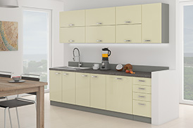 Kitchen set KARMEN VI 260 cream gloss