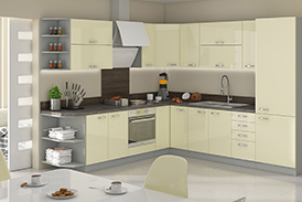 Kitchen set KARMEN VII 260/270 cream gloss